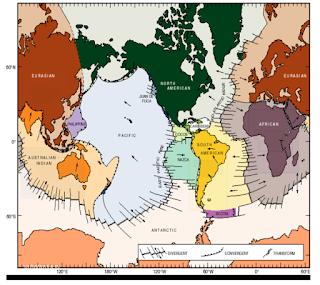 Daerah lempeng berdasarkan teori tektonik lempeng
