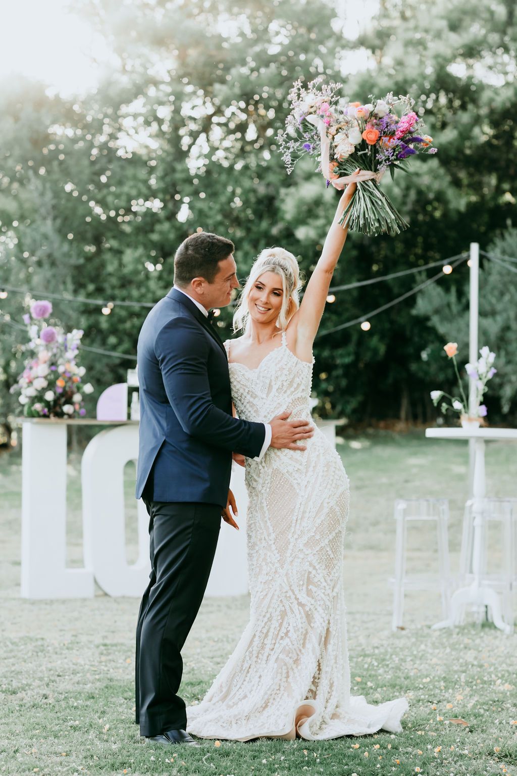 MODERN WHIMSICAL LAVENDER WEDDING STYLING