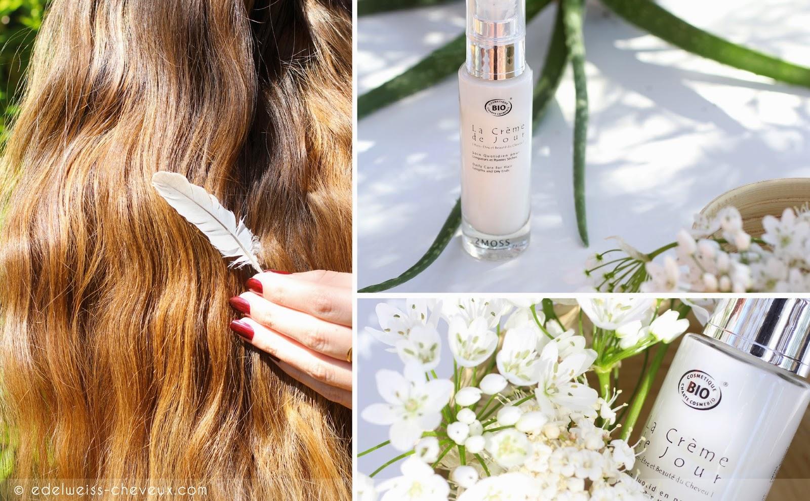 crème de jour soin cheveux naturel 2moss hydratant