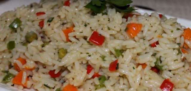 Rice with vegetables for vegan