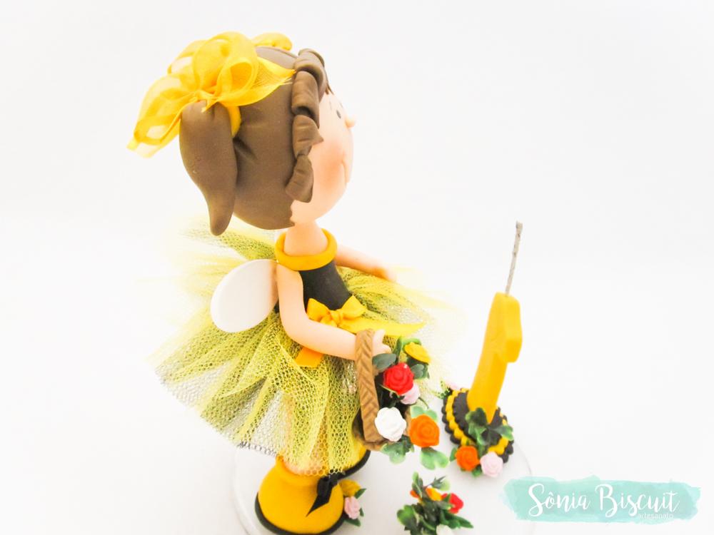 Biscuit, Sonia Biscuit, Abelha, Abelhinha, Menina Abelha, Topo de Bolo, Lembracinha, Lembranca