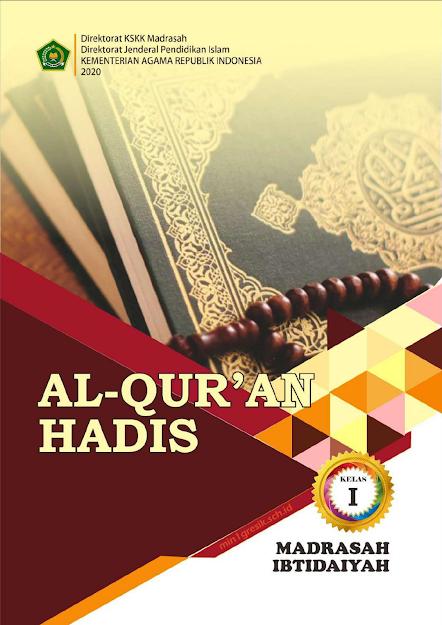 buku al-qur'an hadits kelas 1 mi terbitan kskk kemenag ri