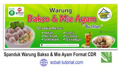 Desain Spanduk Warung Bakso dan Mie Ayam CDR Gratis
