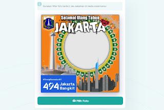 Template Twibbon Kosongan HUT Jakarta  Tema Jakarta Bangkit - kanalmu
