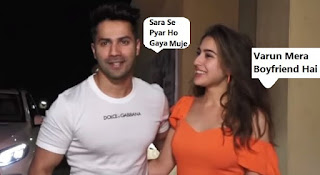 Varun Dhawan With New Girlfriend,Varun Dhawan Girlfriend Sara Ali Khan.Sara Ali Khan boyfriend,