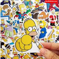 sticker gia đình simpson
