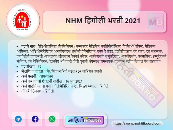 NHM Hingoli Bharti 2021
