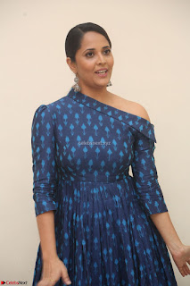 Anchor Anasuya in a Blue Gown at Jai Lava Kusa Trailer Launch ~  Exclusive Celebrities Galleries 020.JPG