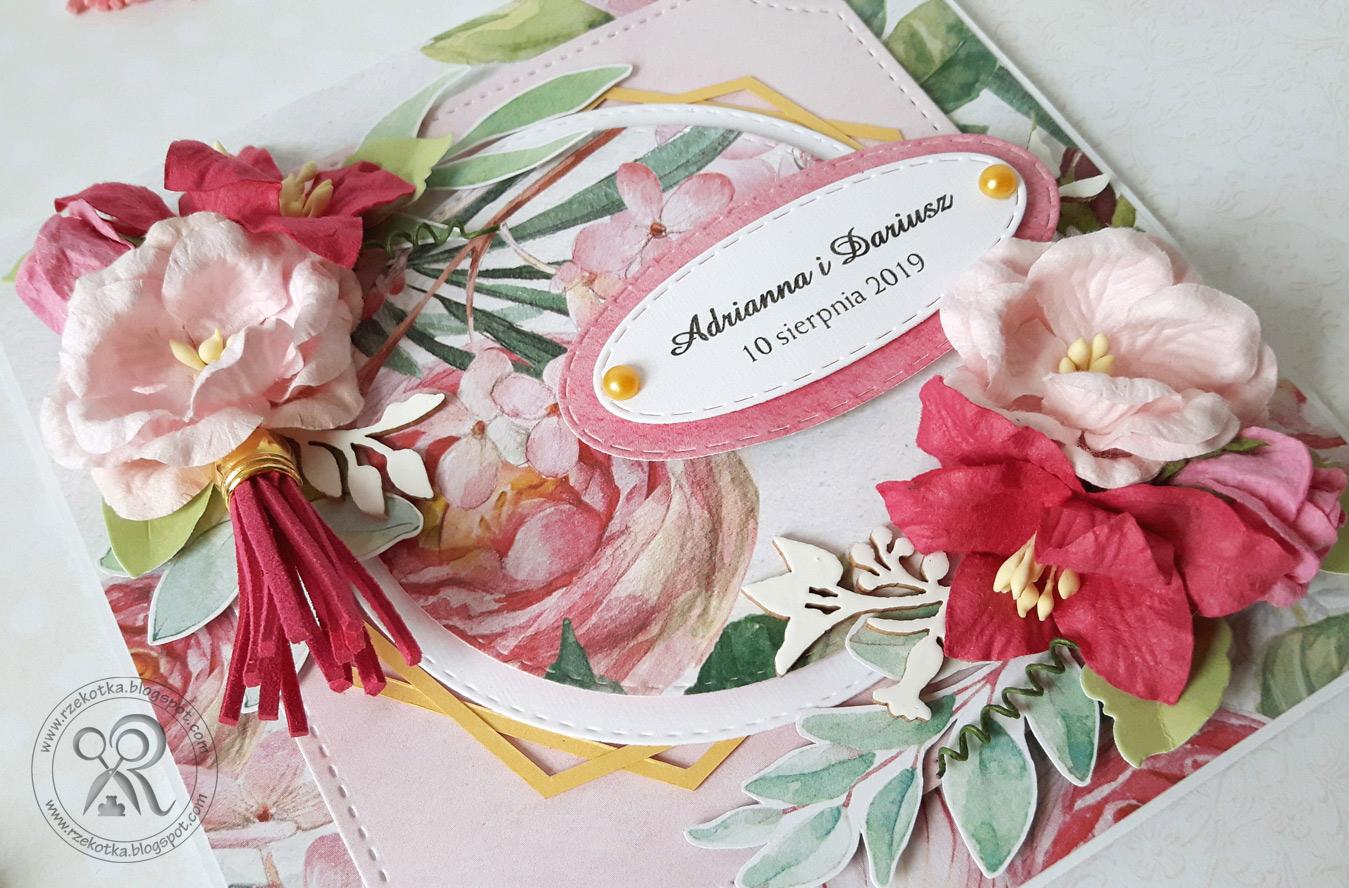 Kwiatowa kartka ślubna