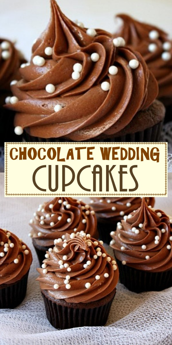 CHOCOLATE WEDDING CUPCAKES #cupcakesrecipes