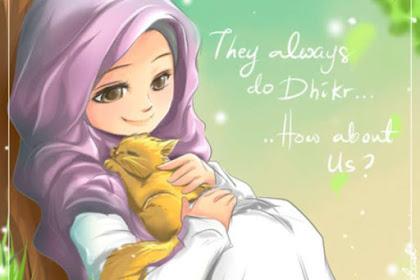 22 Gambar Kartun Wanita Muslimah