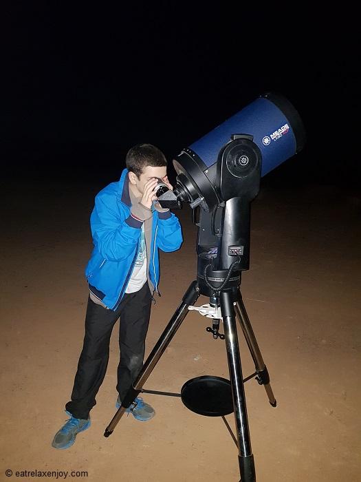 תצפית כוכבים במצפה רמון