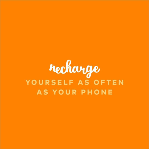 23 Self Love Quotes To Inspire You to Love Yourself More. Self Improvement Quotes via thenaturalside.com | recharge yourself as often as your phone | #selfcare #selflove #loveyourself #recovery