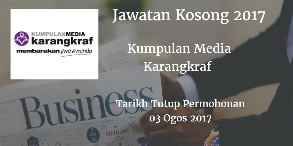 Jawatan Kosong Kumpulan Media Karangkraf 03 Ogos 2017