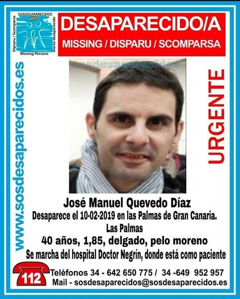 José Manuel Quevedo Díaz desaparecido hospital doctor Negrín Las Palmas