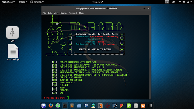 Cara Membuat Backdoor Exploit Android dengan TheFatRat di Kali Linux