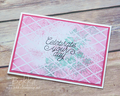 Celebration Card made with Stampin' Up! UK supplies which you can buy here