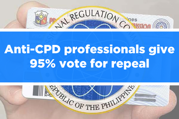News: Anti-CPD professionals give 95% vote for repeal