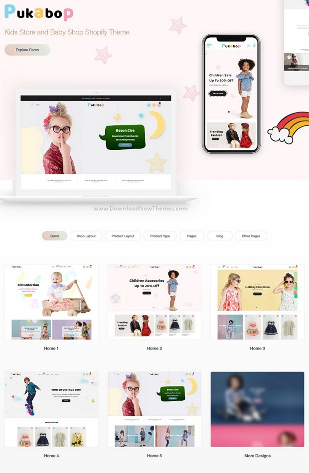 Best Kids Store and Baby Shop Shopify Theme