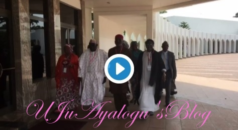 BREAKING: PDP Leaders Storm Aso Rock For Buhari ...Watch Video