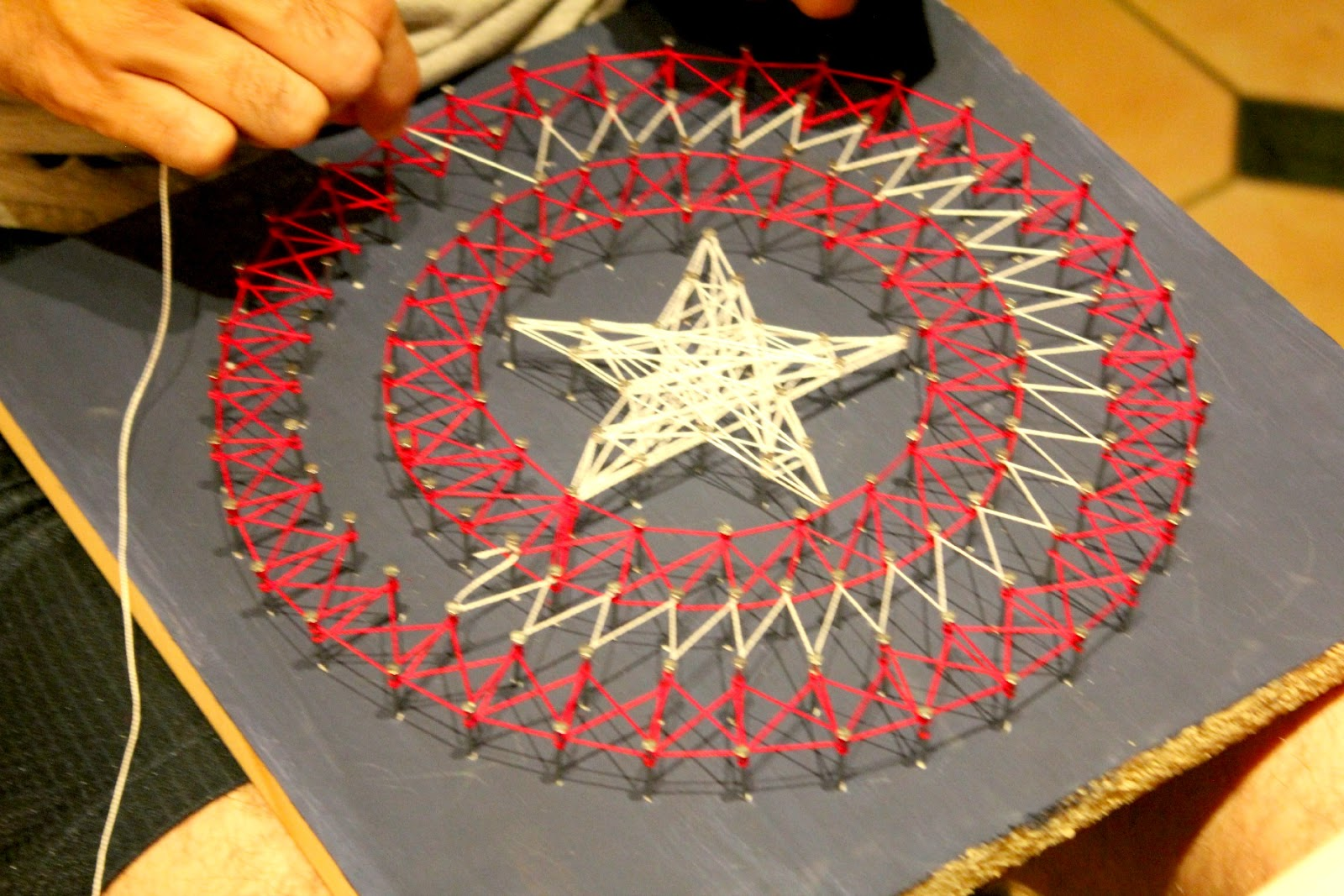 Second Chances Girl A Miami Family And Lifestyle Blog Diy Captain America String Art