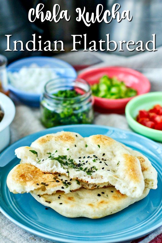 Chola Kulcha Indian Flatbread