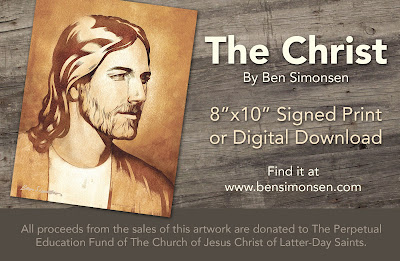 Jesus Christ, Art Print, Ben Simonsen, John C. Pingree Jr., I have a work for thee