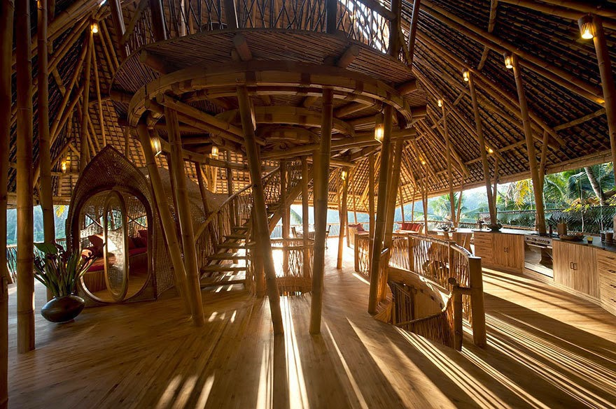 According to Hardy, bamboo is woefully underused when it comes to housing construction. - She Creates Extravagant Tropical Paradises Made Only From Bamboo, Just Check Out The Inside.