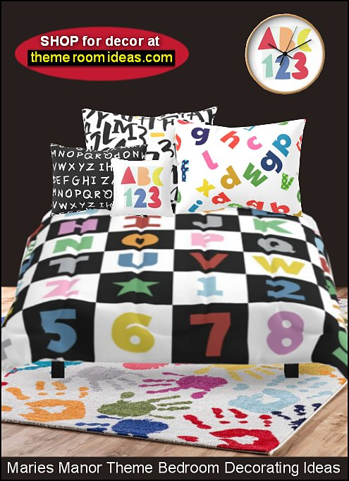 ABC 123 BEDDING alphabet bedding numbers bedding letters bedding