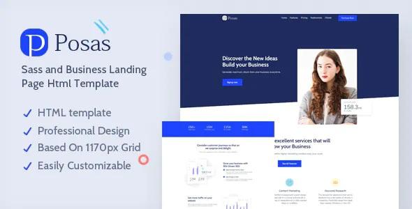 Best Saas Software Landing Page Template