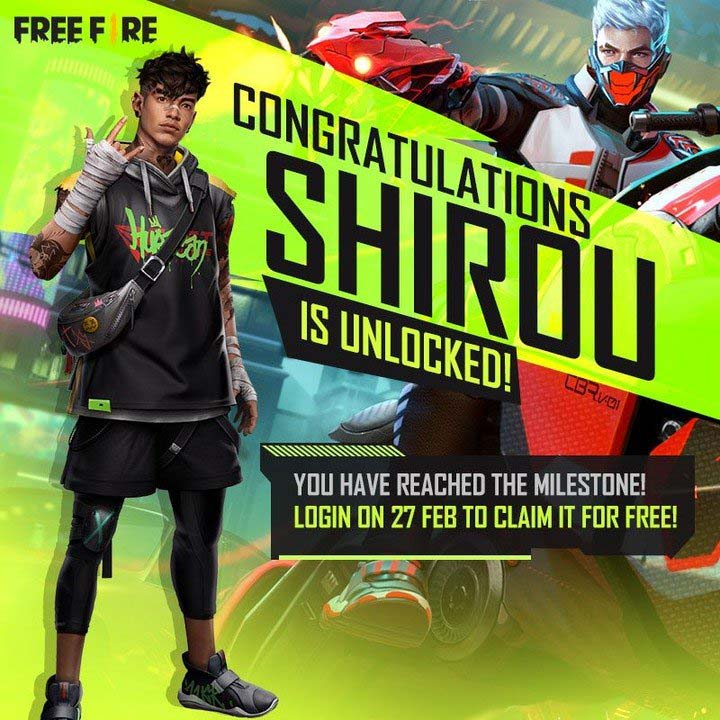 Cara Mendapatkan Karakter Shirou Secara Gratis di Free Fire