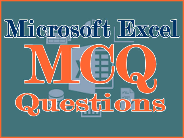 Some more MS Excel MCQ questions collection