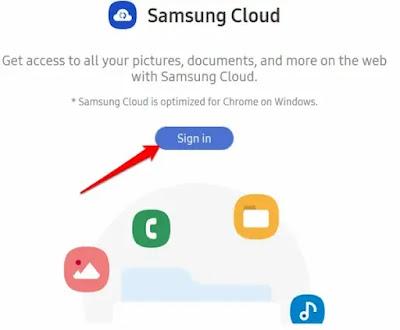 كيفية الوصول إلى Samsung Cloud على الويب