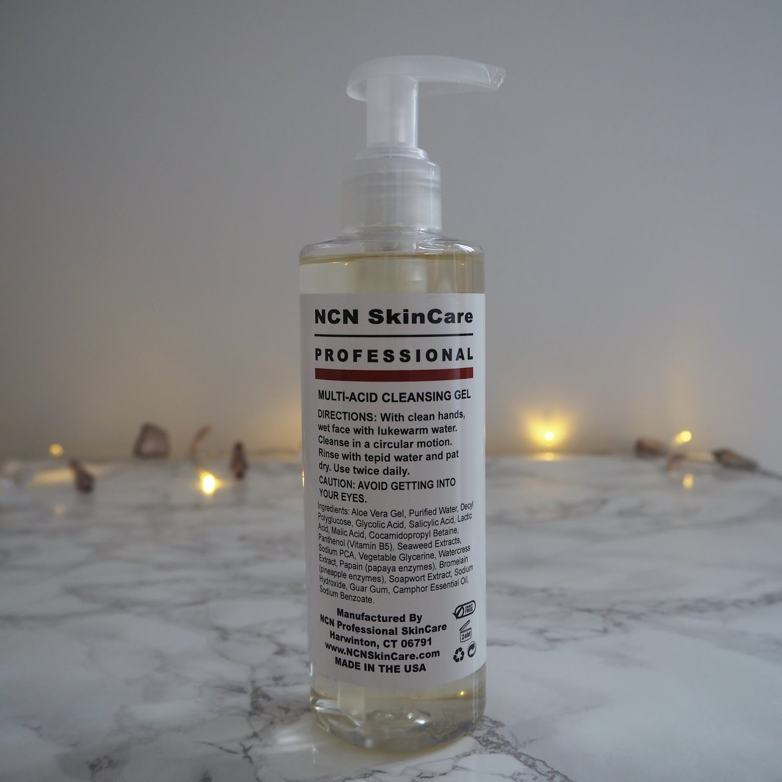 review of NCN skincare multi-acid cleansing gel, over 40 skincare