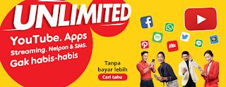 Paket Internet Unlimited Apps Indosat Tanpa FUP