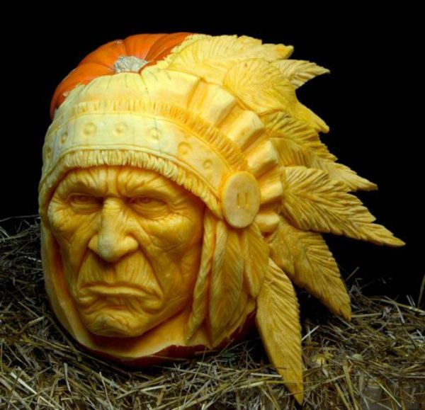 Cool Pumpkin carving - Native American