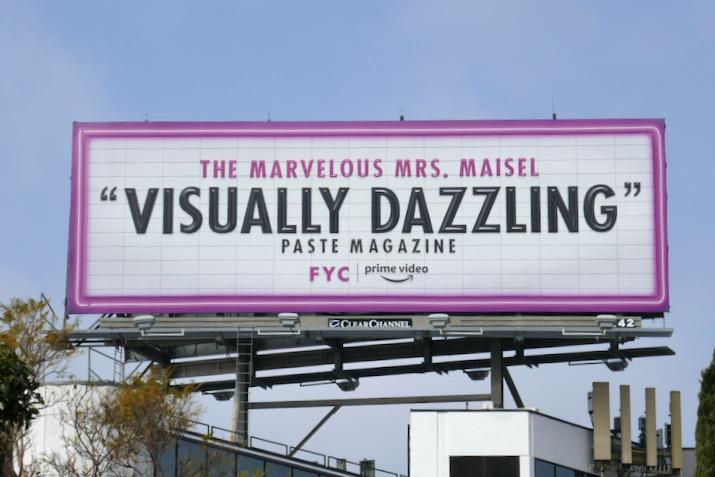 Mrs Maisel season 3 Visually Dazzling FYC billboard