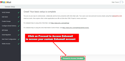 Zohomail Account Creation
