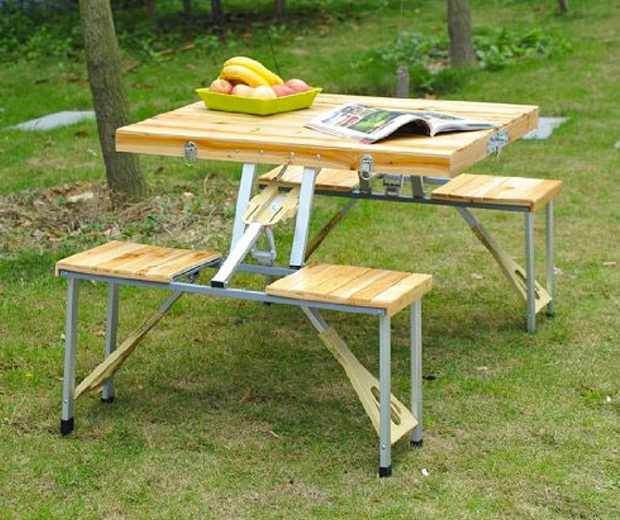 Picnic Table in a Briefcase