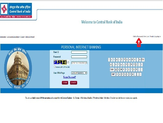 How to activate Central Bank of India Net Banking