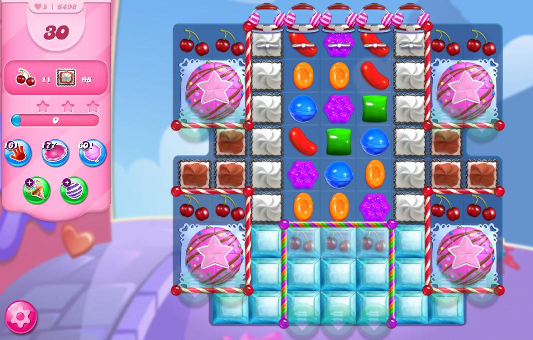 Candy Crush Saga level 6498