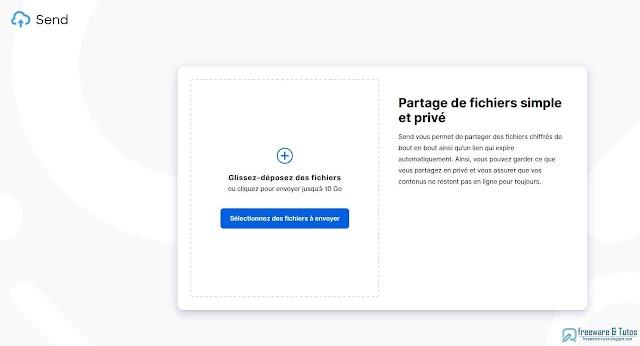 Send : un clone de Firefox Send pour partager des fichiers chiffrés jusqu'à 10 Go