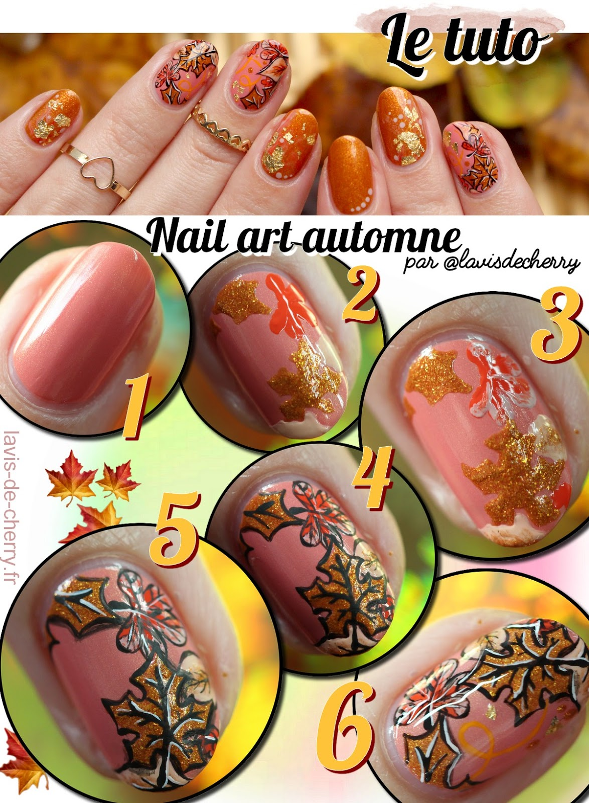 tuto-nail-art-automne-fall-feuille-or-feuilles-mortes