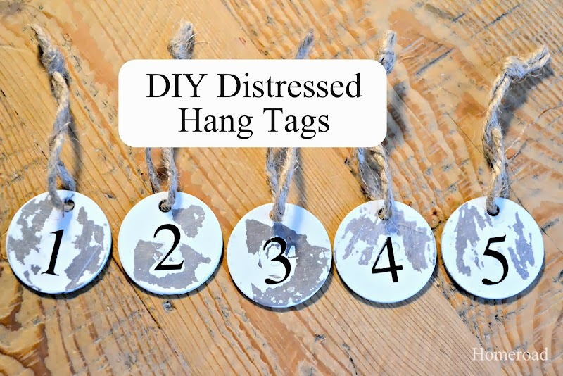 Distressed Metal Hang Tags
