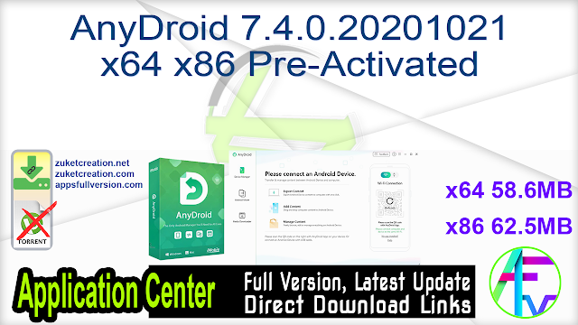AnyDroid 7.4.0.20201021 x64 x86 Pre-Activated