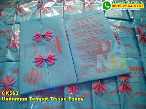 Jual Undangan Tempat Tissue Fanny