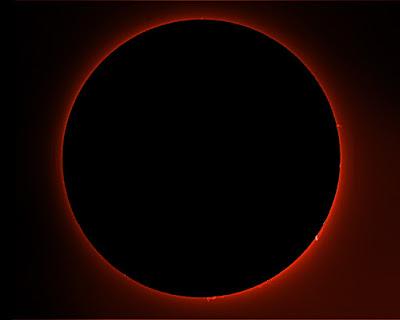 Cromosfera solar i protuberàncies 12/07/2018  9:54 UT