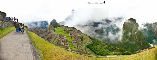 Chegando a Machu Picchu