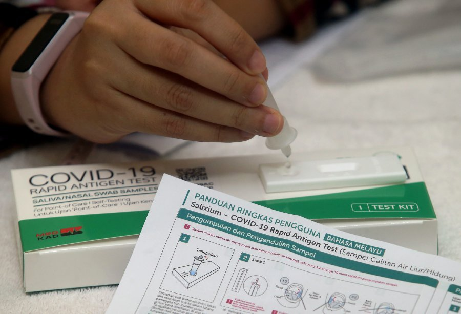 Harga Siling Kit Ujian Kendiri Antigen Covid-19 Ditetapkan Sebanyak RM19.90