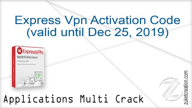Express Vpn Activation Code (valid until Dec 25, 2019)